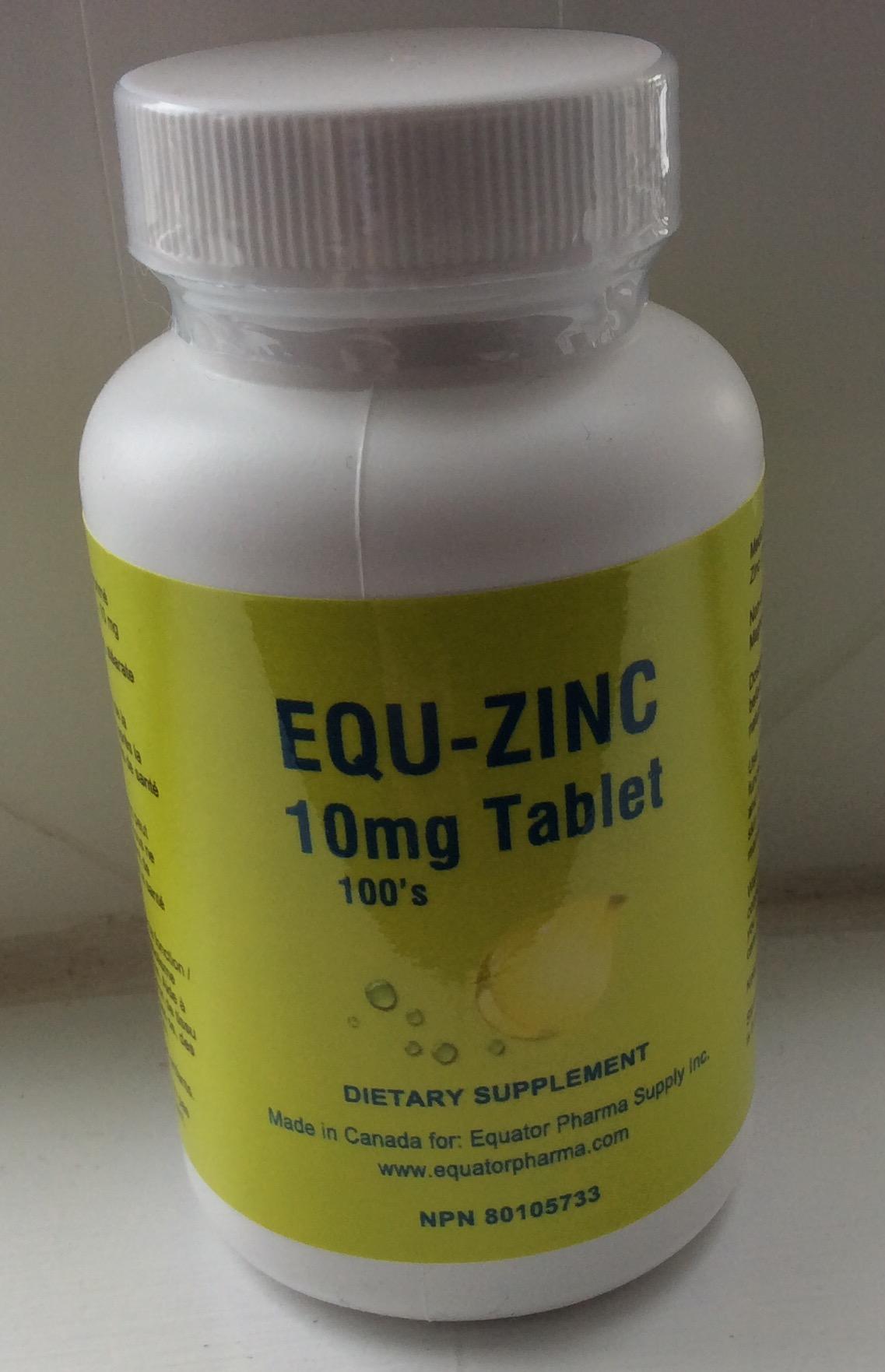 Zinc 10mg tabs 100's